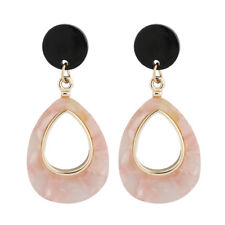 Fashion Women Acrylic Resin Water Drop Statement Earrings Dangle Jewelry Gifts