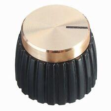 3X(10x Guitar AMP Amplifier Knobs Push-on Black+Gold Cap for Marshall Ampli S4Q6