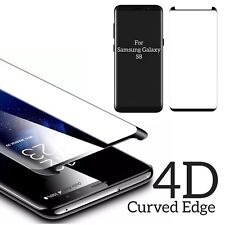 For Samsung Galaxy S8 4D Curved Full Tempered Glass LCD Screen Protector Black