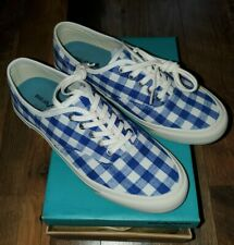 Seavees For J Crew Legend Sneakers Tennis Boat Shoes Blue Gingham Women's 9