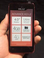 "BLU Advance 4.0 L2 A030u 4"" Cell Phone GSM Unlocked Dual SIM Android RC"