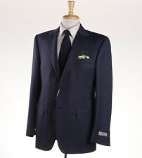 NWT $2295 CANALI 1934 Slate Blue Woven Pindot Wool-Silk Suit 42 R Classic-Fit
