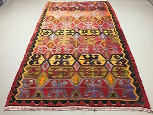 Vintage Turkish Kilim Kelim Rug 300x173cm shabby chic wool, country home, boho