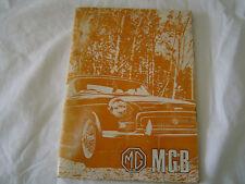 Rare item MG MGB TOURER & GT ORIGINAL FACTORY HANDBOOK 1970 (LHD) AKD 4991 6TH
