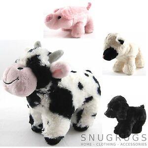 Ceñido Juguete Cordero Vaca Cerdo Granja Animales Super Soft Regalo