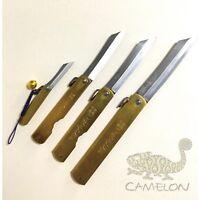 HIGONOKAMI Japanese Style Blade Blue Paper Steel Folding Knife SS M L XL Blade