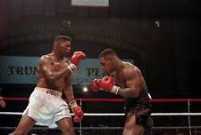 Old Boxing Photo Tyrell Biggs Dripping Blood Against Mike Tyson