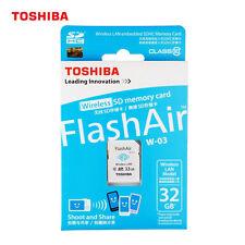 Toshiba Flash Air III W-03 WLAN WiFi 32GB CLASS 10 SD SDHC Karte Speicherkarte