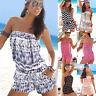 Women Strapless Shorts Jumpsuit Boho Romper Mini Playsuit Summer Beach Sun Dress