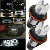 2X Angel Eyes Halo LED Lights Bulb For BMW E39 E87 E64 E63 E65 E66 E53 X5 E83 UK