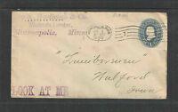 1898 IRA WADLEIGH & CO WHOLESALE LUMBER MINNEAPOLIS MINN ADVERTISING COVER