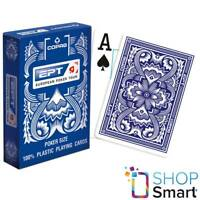 COPAG EPT EUROPEAN POKER TOUR JUMBO INDEX 100% PLASTIC POKER CARDS DECK BLUE NEW