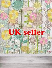 Fiore in Legno Bianco sfondo carta da Parati Vinile Sfondo Foto di scena 5X7FT 150x220CM