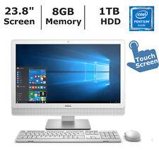 "Brand New Dell 23.8"" IO3452-6382WHT Touchscreen All-in-one - N3700/8GB/1TB/Win10"