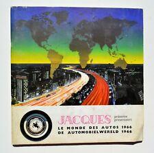 Chocolat Jacques - Le monde des AUTOS 1966 - Album chromos complet