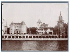France, Paris, Pavillon de Bosnie et Autriche  vintage citrate print. Exposition