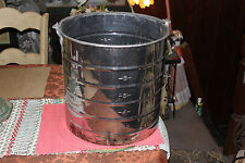 Large White Co. Stainless Steel Dairy Milk Can Pail Carrier W/Handle-Farm Decor
