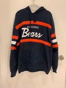 Mitchell & Ness Chicago Bears Hoodie Sweatshirt. Size XL