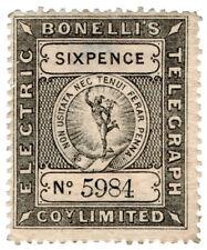 (I.B) Bonelli's Electric Telegraph Company 6d