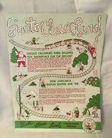 1948 Santa Claus Land Indiana Sales Brochure Carrom Game Boards Lok Blok Toys