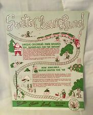 1948 Santa Claus Land Indiana Sales Brochure Carrom Game Boards Lok Blok Toys