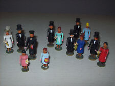 Vecchi personaggi in miniatura 13 pezzi dal Erzgebirge hochzeitszug matrimonio