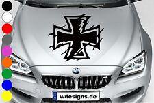 Autoaufkleber EISERNES KREUZ IRON CROSS Aufkleber Motorhaube Sticker Heckscheibe