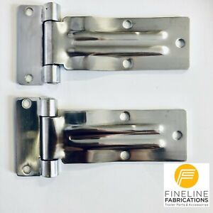 2 x Large Stainless Steel Door Hinge, latch, strap, Trailer, truck, canopy