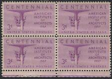 Scotts #1089  3c ARCHITECTS  Stamp Block of 4, Unused, MNH