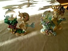 """HAMILTON COLLECTION""""FRIENDS OF THE SEA RAINBOW REEF COLLECTION MERMAIDS SET OF 2"""