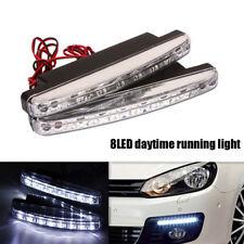 2X 8LED Car DRL Daytime Running Light Turn Signal Driving DRL Fog Head Lamp Bulb