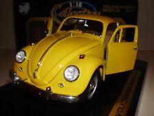 1:18 VW KÄFER 1967 Road Tough Modellauto Gelb Diecast Volkswagen Beetle Typ 1