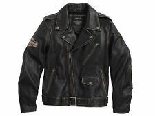 Harley Davidson Men's BLACK LABEL #1 Skull Vintage Leather Jacket XL 98063-13VM