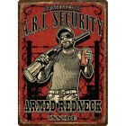 Rivers Edge Products Rivers Edge Armed Redneck Inside Tin Sign, 12x17 Inches Md: