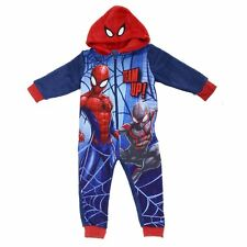 20d7335e8 Marvel Spider-man Kids All in One Hooded Sleep Suit PJs Nightwear Age 6-