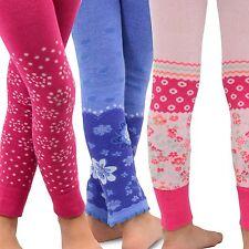 TeeHee Kids Girls Fashion Leggings 3 Pair Pack (Assort Floral)