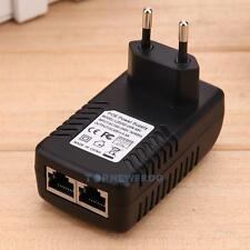 48V 0.5A 24W Wall Plug for POE Injector Ethernet Adapter Power Supply CCTV UK