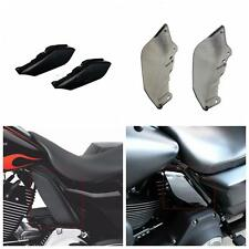 Pair Motorcycle Black Mid-Frame Deflectors for Harley Tri Glide Ultra FLHTCUTG