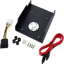 """LogiLink AD0013 HDD/SSD Einbaurahmen 2,5"""" auf 3,5"""" Rahmen SATA S-ATA Power Kabel"""