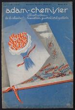 Men's Fashion Art Deco Magazine Adam-Chemisier 07/15/1936