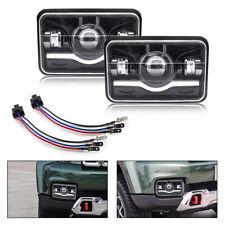 """Pair 4X6 5"""" 150W LED Car Headlight Hi-Lo Beam For JEEP Wrangler YJ  XJ ATV SUV"""