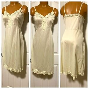 Vintage Sears Full Slip Yellow Non Cling Made in USA Size 36 Tall