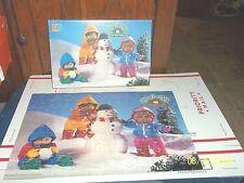 VINTAGE 1984 MILTON BRADLEY CABBAGE PATCH KIDS BUILDING SNOWMAN 100 PIECE PUZZLE