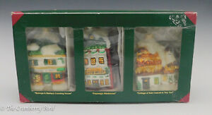 Department 56 - Christmas Blown Glass Ornaments - Houses Poland Set of 3