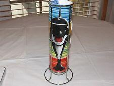 Seaworld Shamu Cappuccino Set 4 Mugs 1 Stand Coffee Tea Shamu the Whale