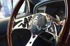 380mm Chrome Dark Mudflap Steering Wheel Wood Grip 15 - 6 Hole Chevy Gmc C10