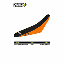 2000 KTM SX 400/520 FULL GRIPPER SEAT COVER Orange/Black by Enjoy MFG