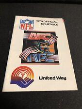 1979 NFL Football League Pocket Schedule United Way Version