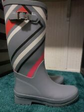 "VERA BRADLEY SIZE 6 ""NORTHERN STRIPES"" RAIN BOOTS"