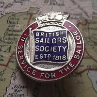 C1940 Britannico Marinaio Società 1818 Smalto Distintivo Da Miller Birmingham